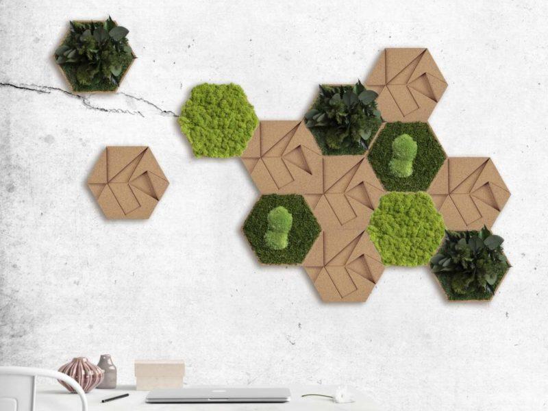 Standard: kombinierbare Wandpaneele; Hexagone