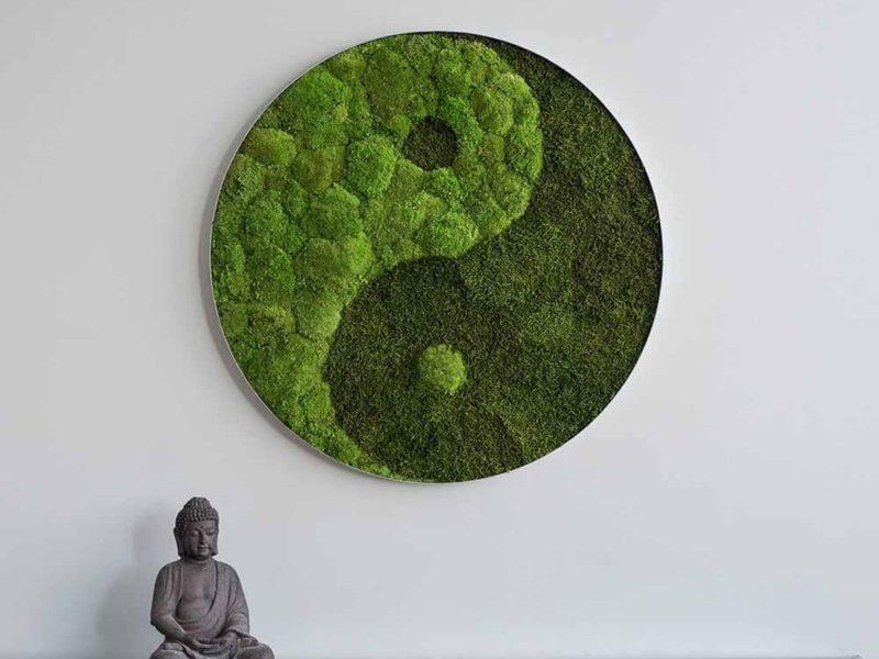Standard: Wald und Kugelmoos Kreis Yin und Yang